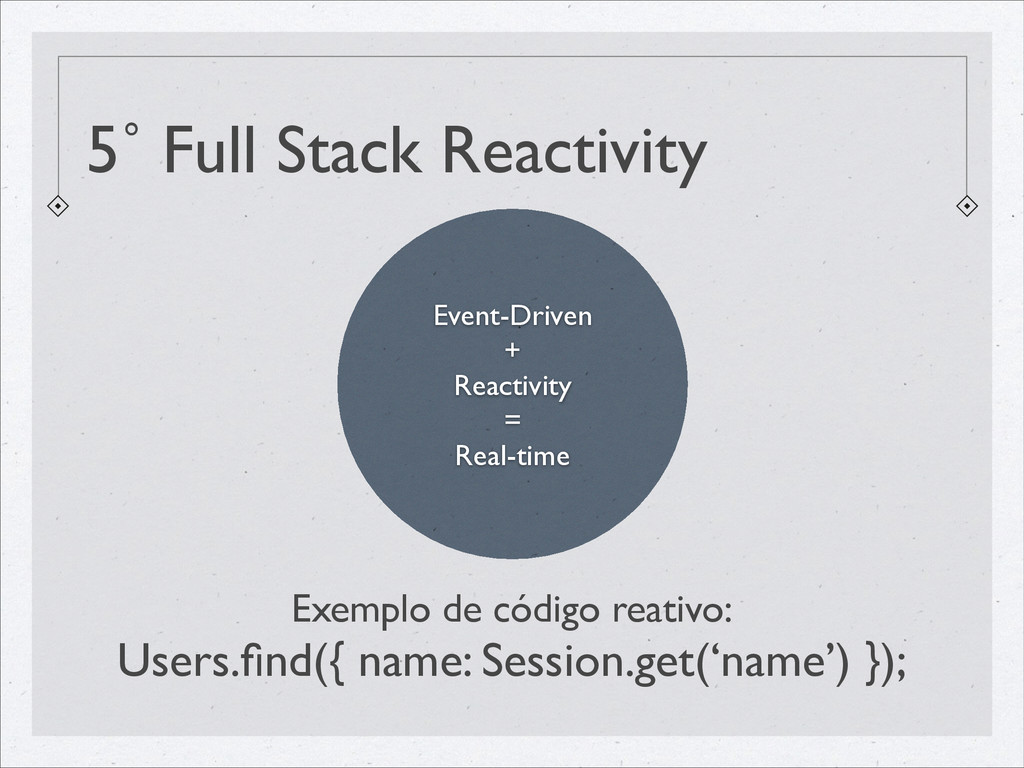 5˚ Full Stack Reactivity Event-Driven	 