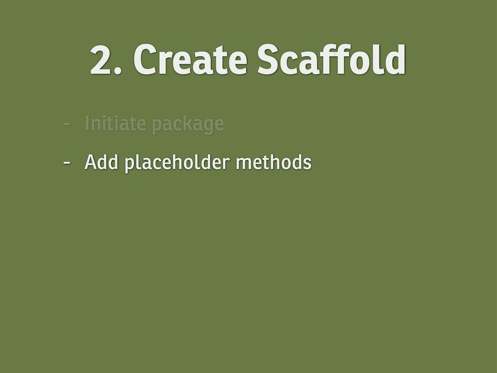 2. Create Scaffold - Initiate package - Add pla...