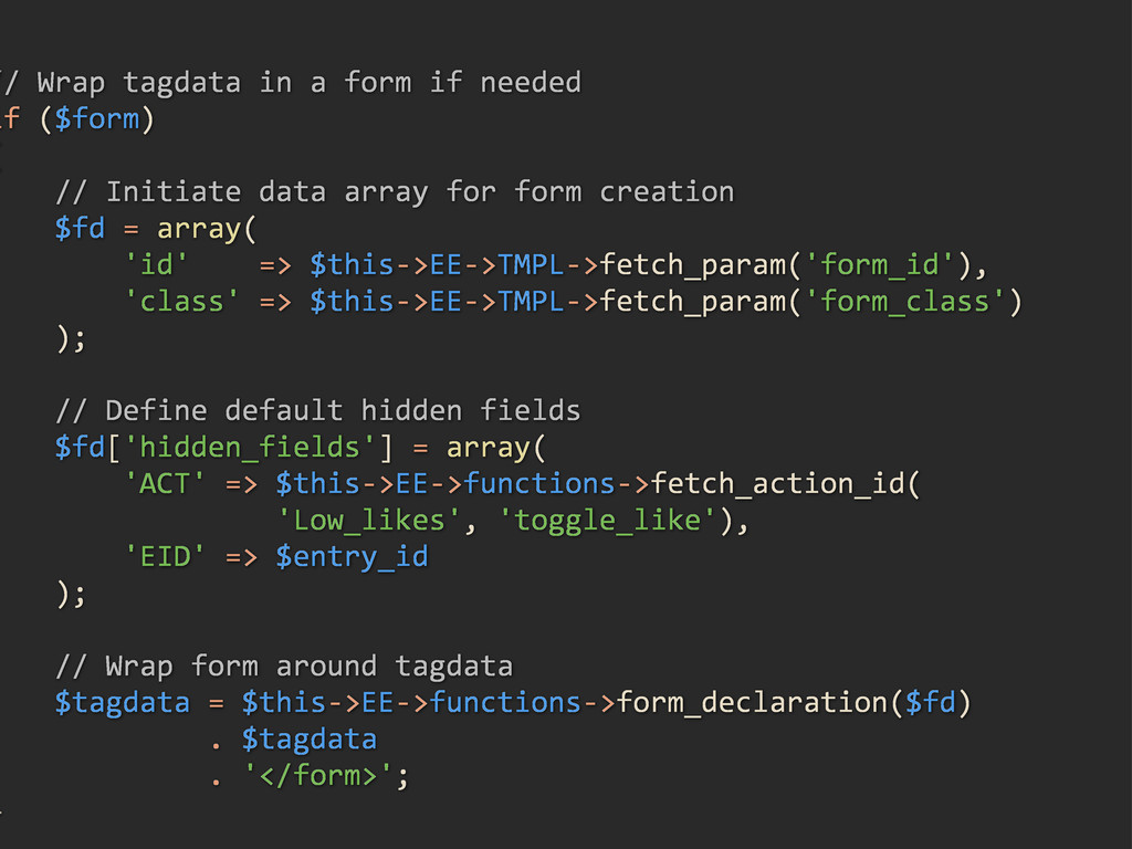 ///Wrap/tagdata/in/a/form/if/needed if/($form) ...