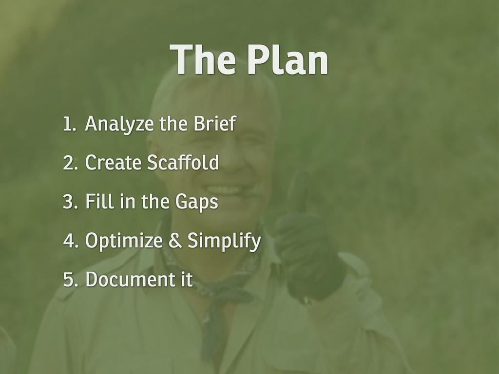 1. Analyze the Brief 2. Create Scaffold 3. Fill...