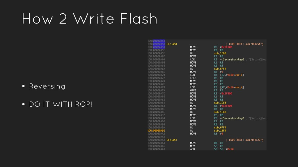 How 2 Write Flash • Reversing • DO IT WITH ROP!