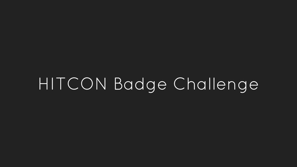 HITCON Badge Challenge