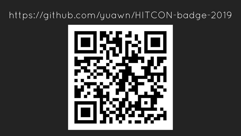 https://github.com/yuawn/HITCON-badge-2019