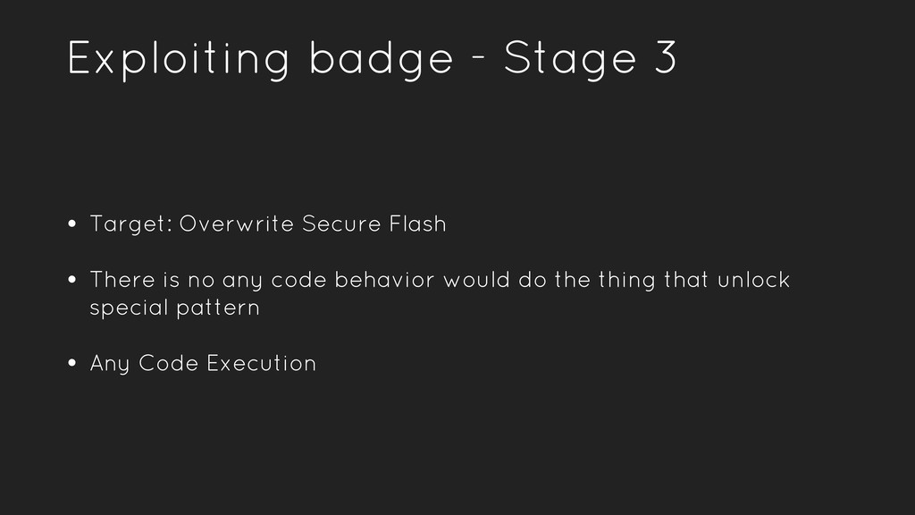 Exploiting badge - Stage 3 • Target: Overwrite ...