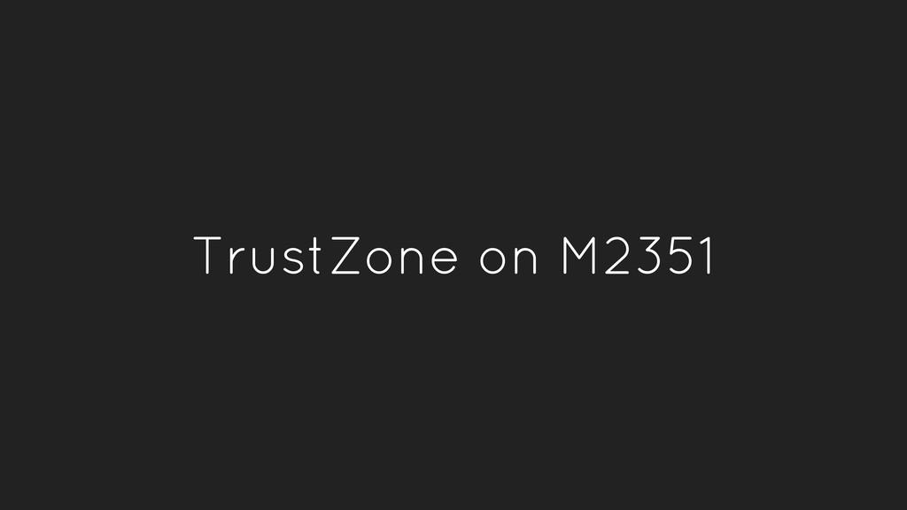 TrustZone on M2351