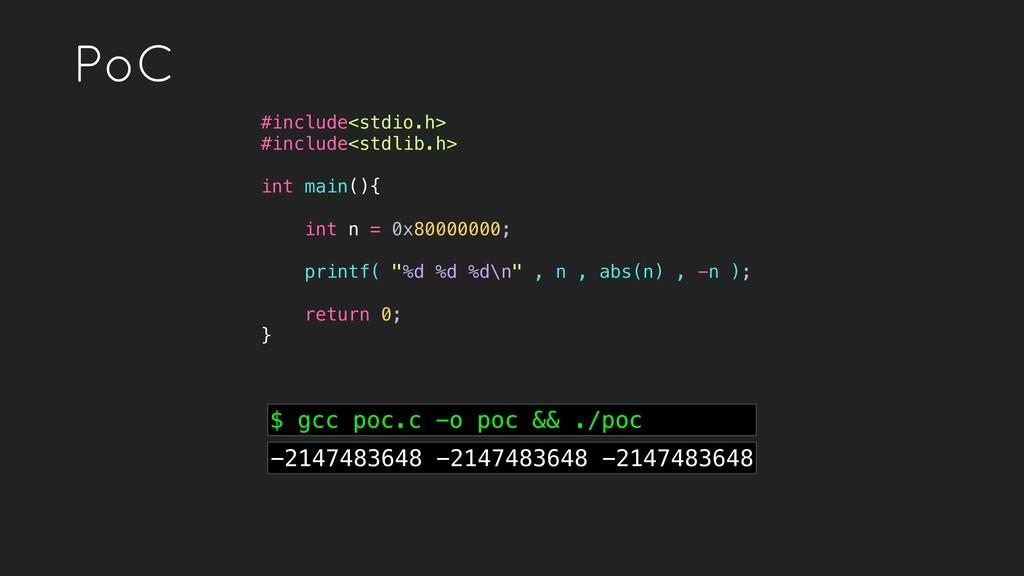 PoC #include<stdio.h> #include<stdlib.h> int ma...