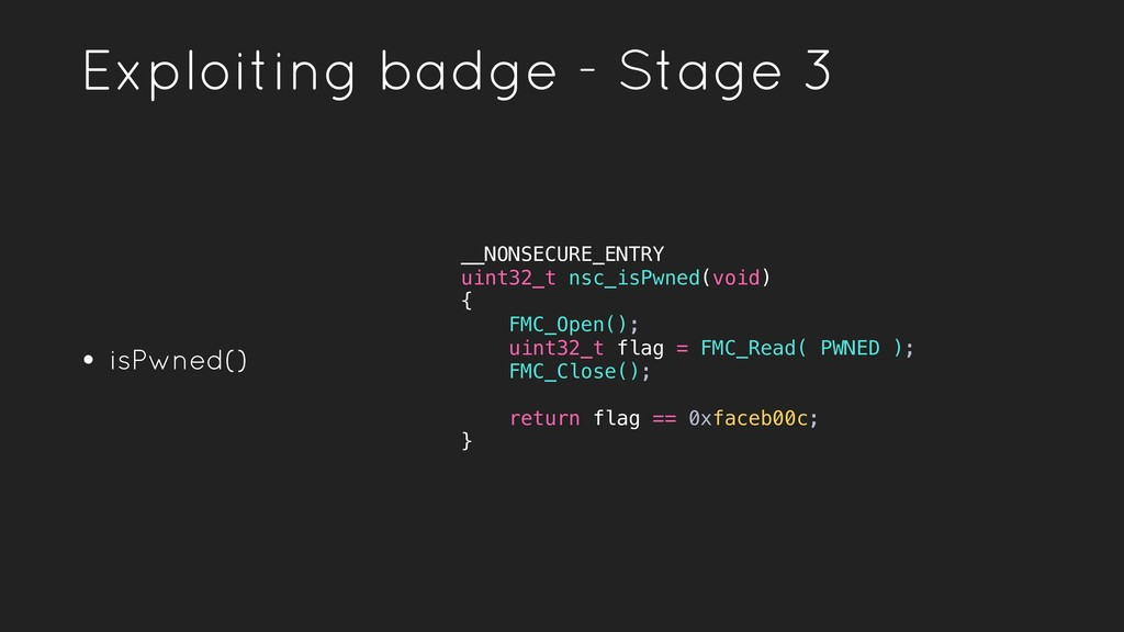 • isPwned() Exploiting badge - Stage 3 __NONSEC...
