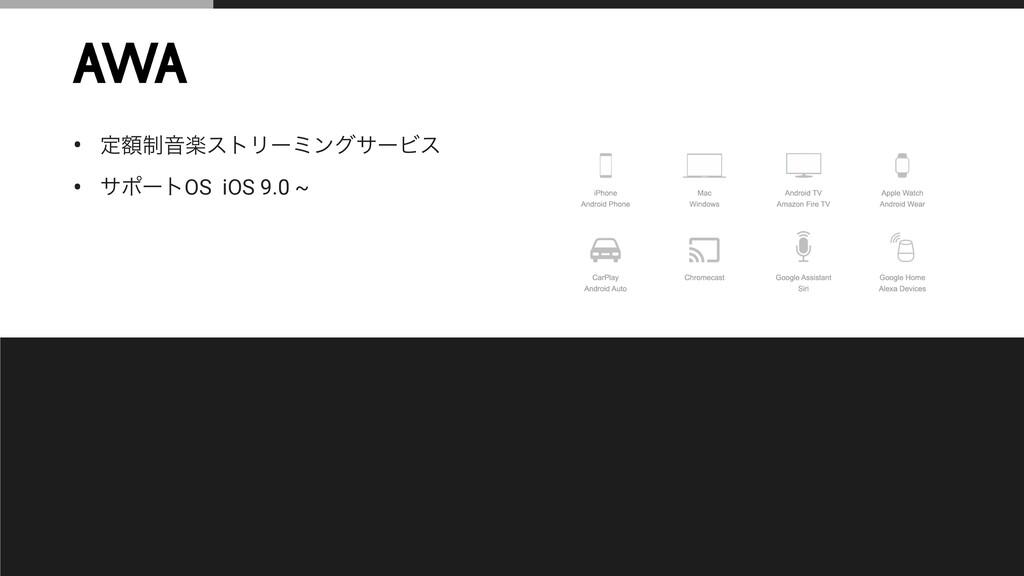 • ఆ੍ֹԻָετϦʔϛϯάαʔϏε • αϙʔτOS iOS 9.0 ~