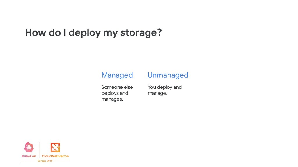 You deploy and manage. Someone else deploys and...