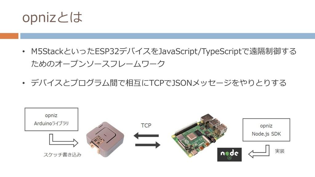 opnizとは • M5StackといったESP32デバイスをJavaScript/TypeS...