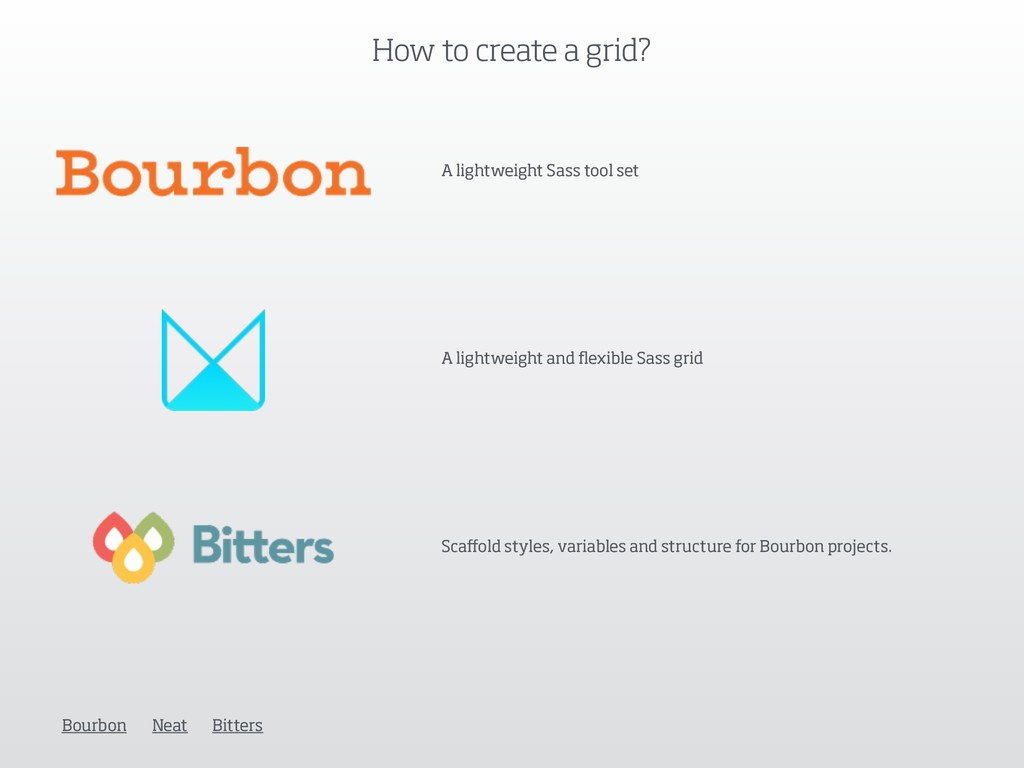 How to create a grid? A lightweight Sass tool s...