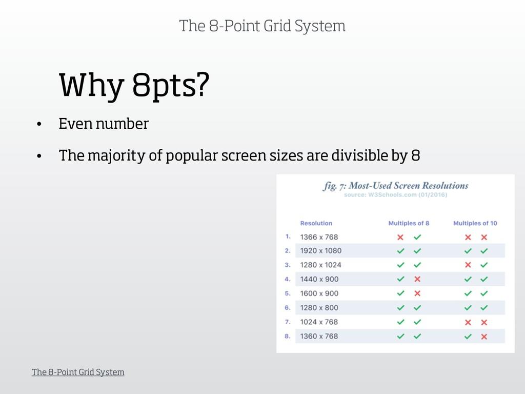The 8-Point Grid System The 8-Point Grid System...