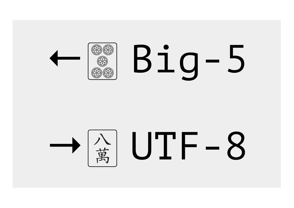 ← Big-5 → UTF-8