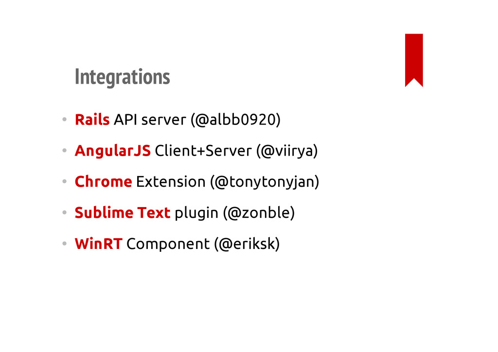 Integrations • Rails API server (@albb0920) • A...