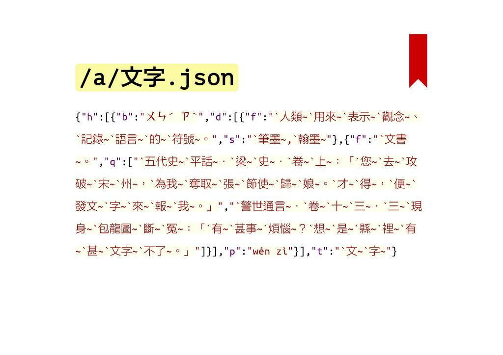 "/a/文字.json {""h"":[{""b"":""ㄨㄣˊ ㄗˋ"",""d"":[{""f"":""`人類~`..."