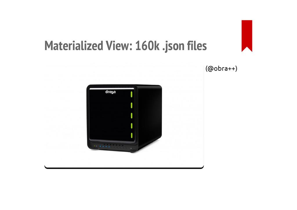 Materialized View: 160k .json files (@obra++)