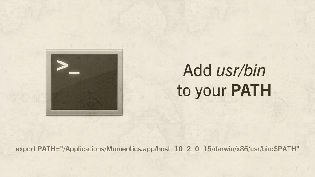 """export PATH=""""/Applications/Momentics.app/host_1..."""