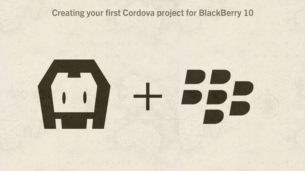 Creating your first Cordova project for BlackBer...