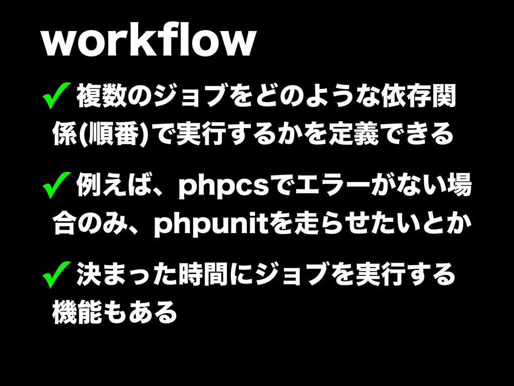 XPSLqPX ✓ෳͷδϣϒΛͲͷΑ͏ͳґଘؔ  ॱ൪ Ͱ࣮ߦ͢Δ͔ΛఆٛͰ͖Δ ✓...