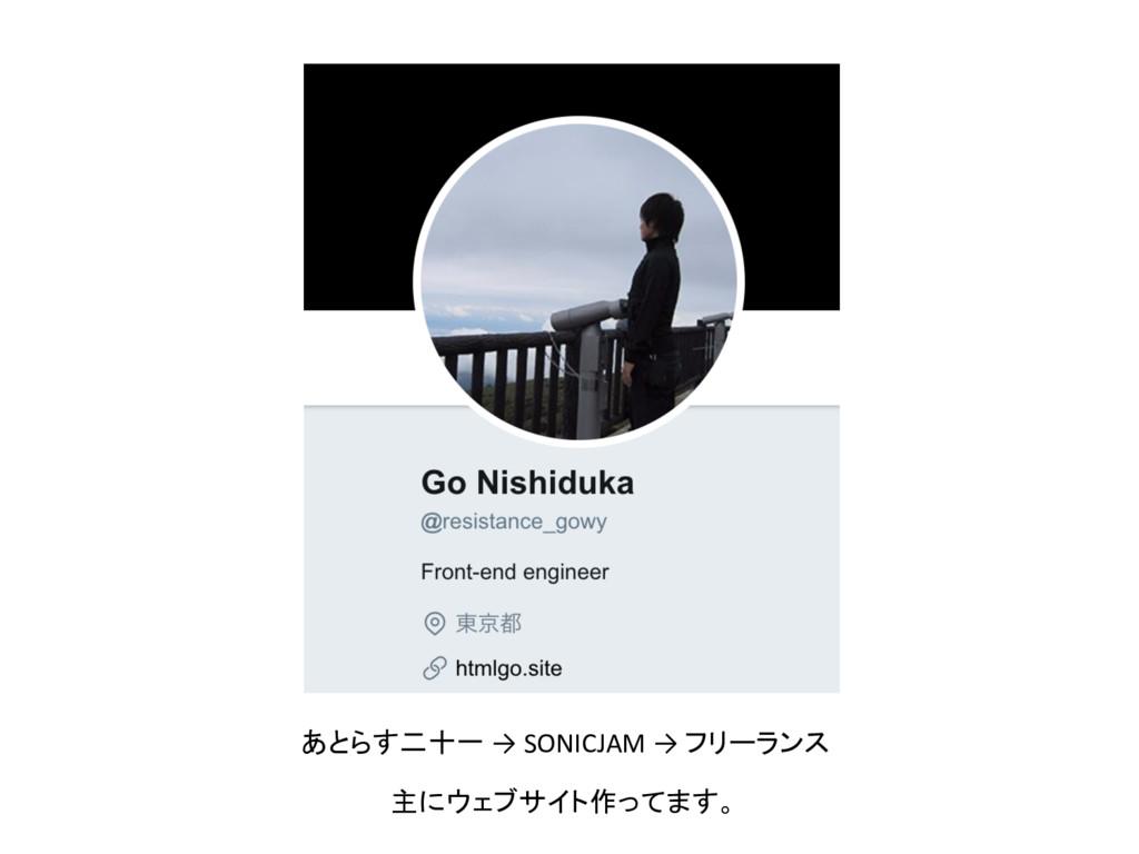 主にウェブサイト作ってます。 あとらす二十一 → SONICJAM → フリーランス
