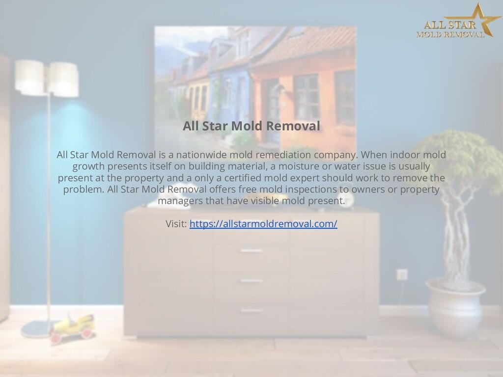 All Star Mold Removal All Star Mold Removal is ...