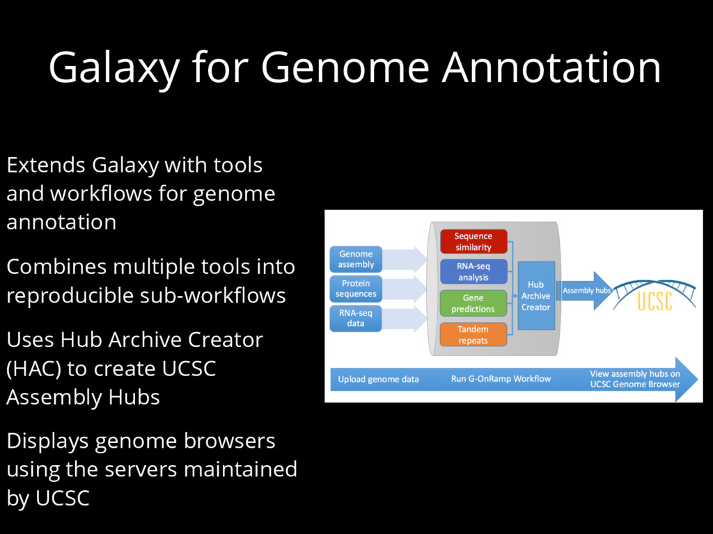 Galaxy for Genome Annotation Extends Galaxy wit...
