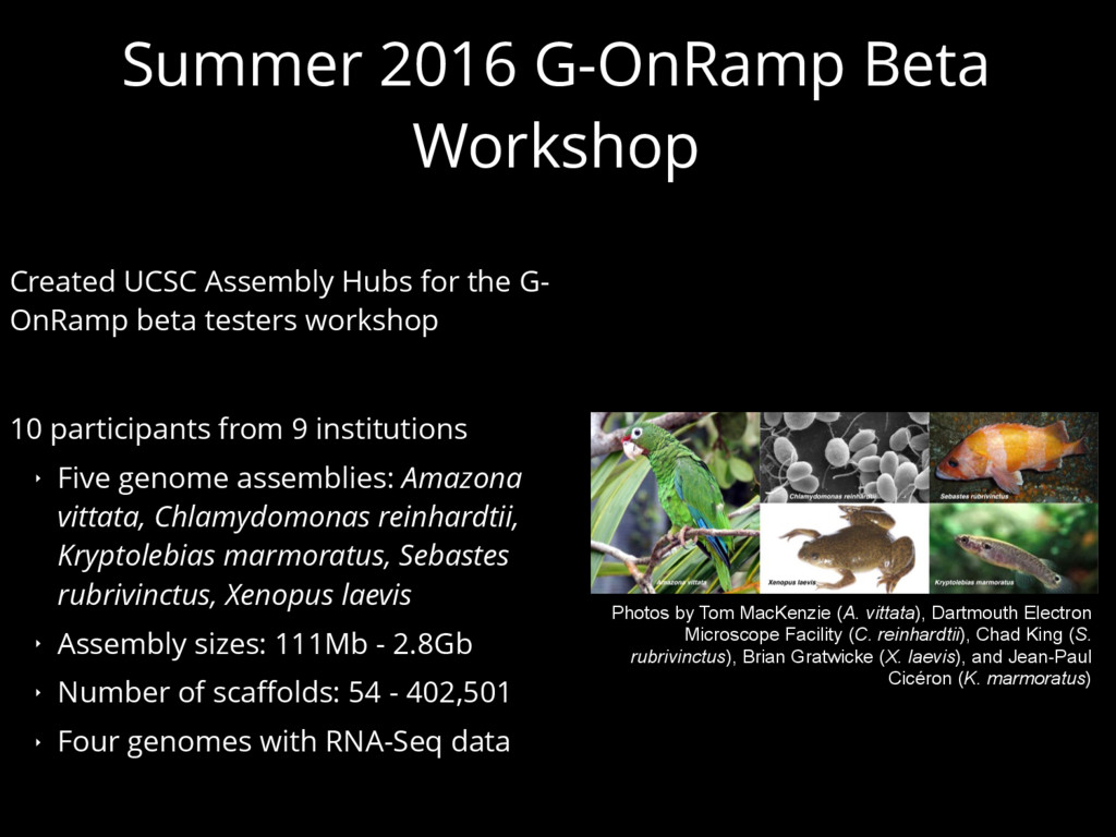 Summer 2016 G-OnRamp Beta Workshop Created UCSC...