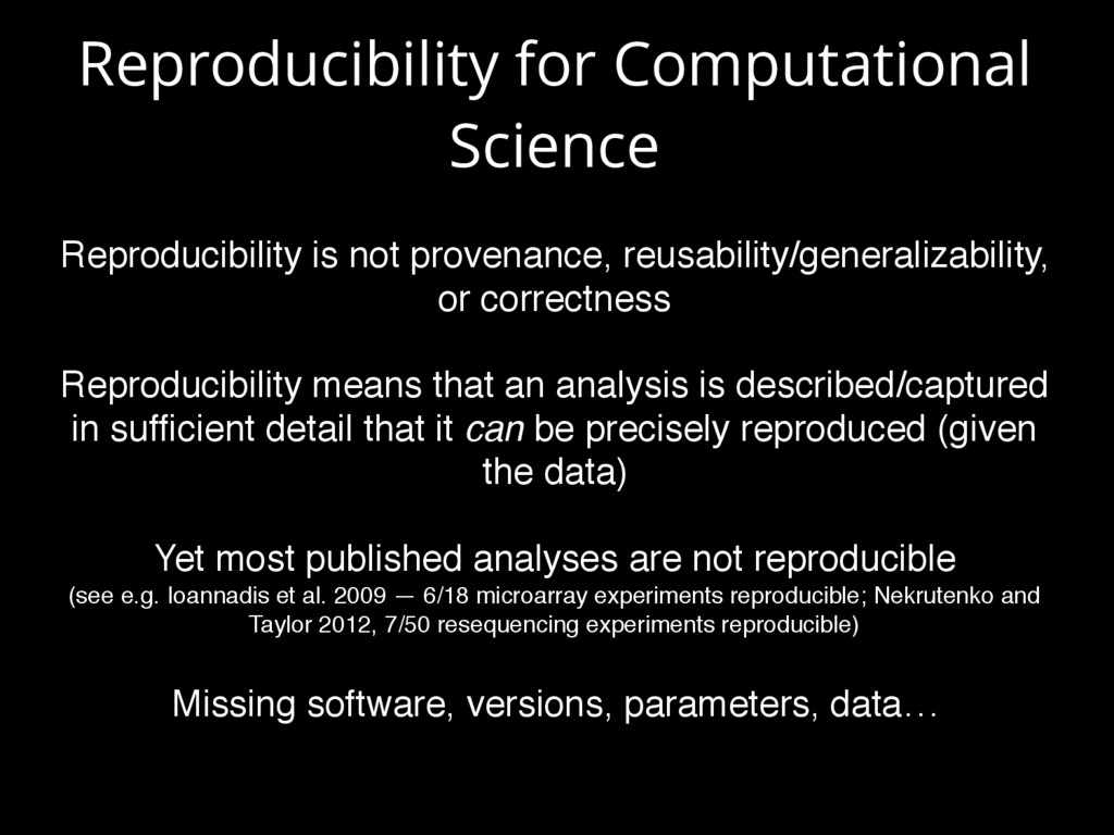 Reproducibility for Computational Science Repro...