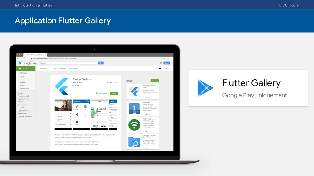 Introduction à Flutter GDG Tours Application Fl...