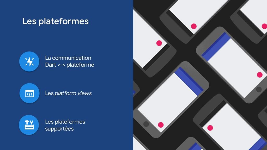 Les plateformes Les platform views La communica...