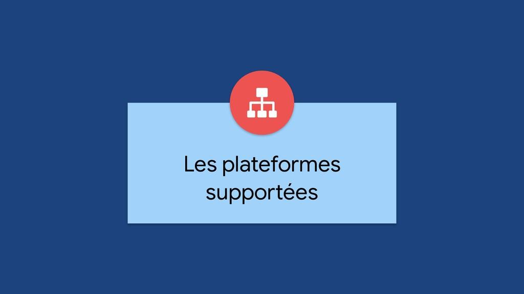 Les plateformes supportées