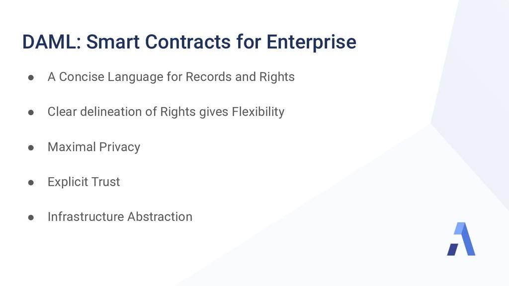 DAML: Smart Contracts for Enterprise ● A Concis...
