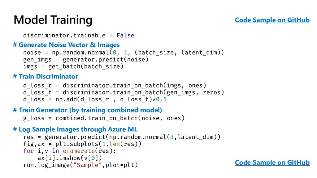Model Training discriminator.trainable = False ...