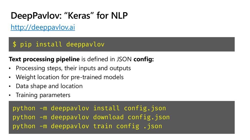 """DeepPavlov: """"Keras"""" for NLP http://deeppavlov.a..."""