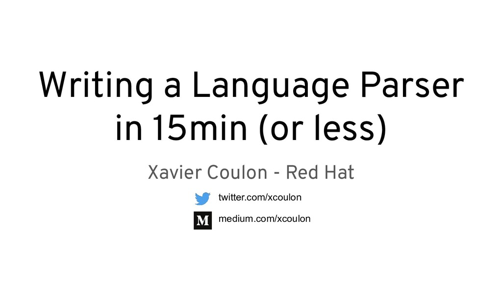 Writing a Language Parser in 15min (or less) Xa...