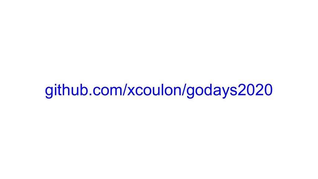 github.com/xcoulon/godays2020
