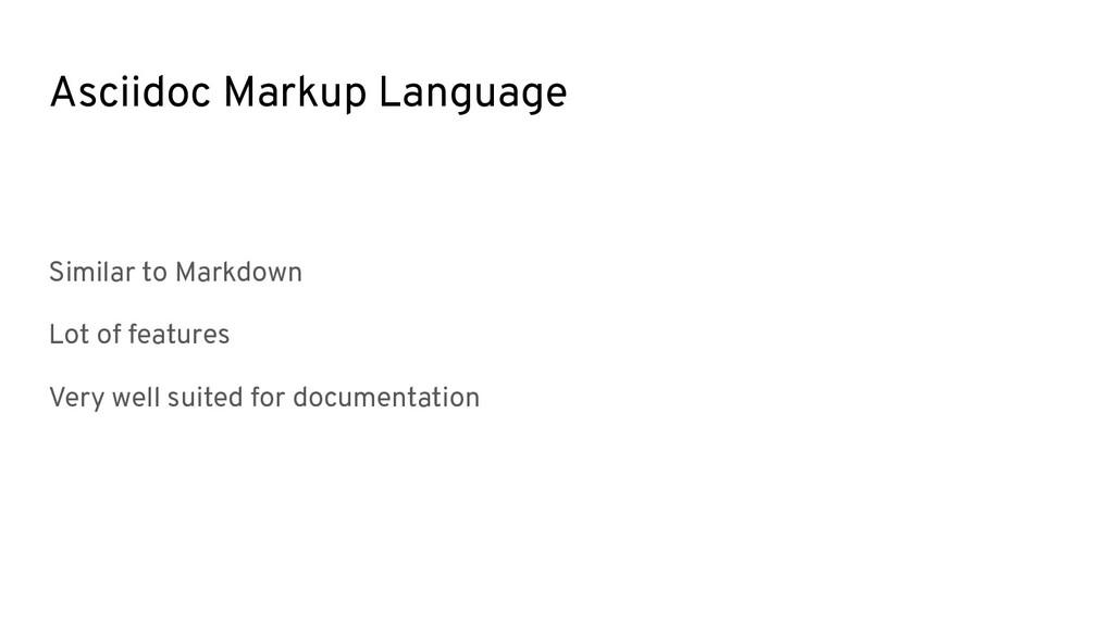 Asciidoc Markup Language Similar to Markdown Lo...
