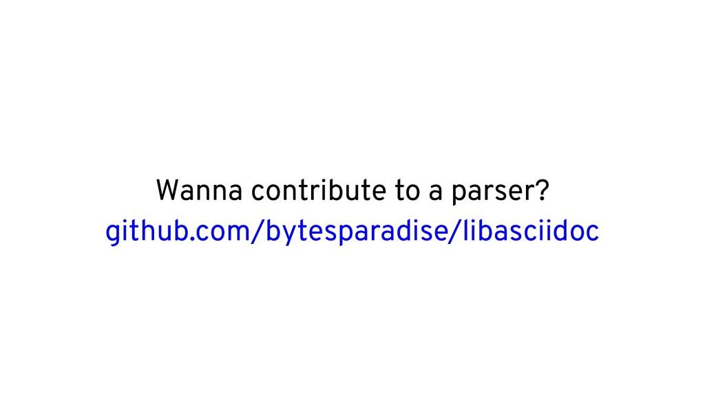 Wanna contribute to a parser? github.com/bytesp...