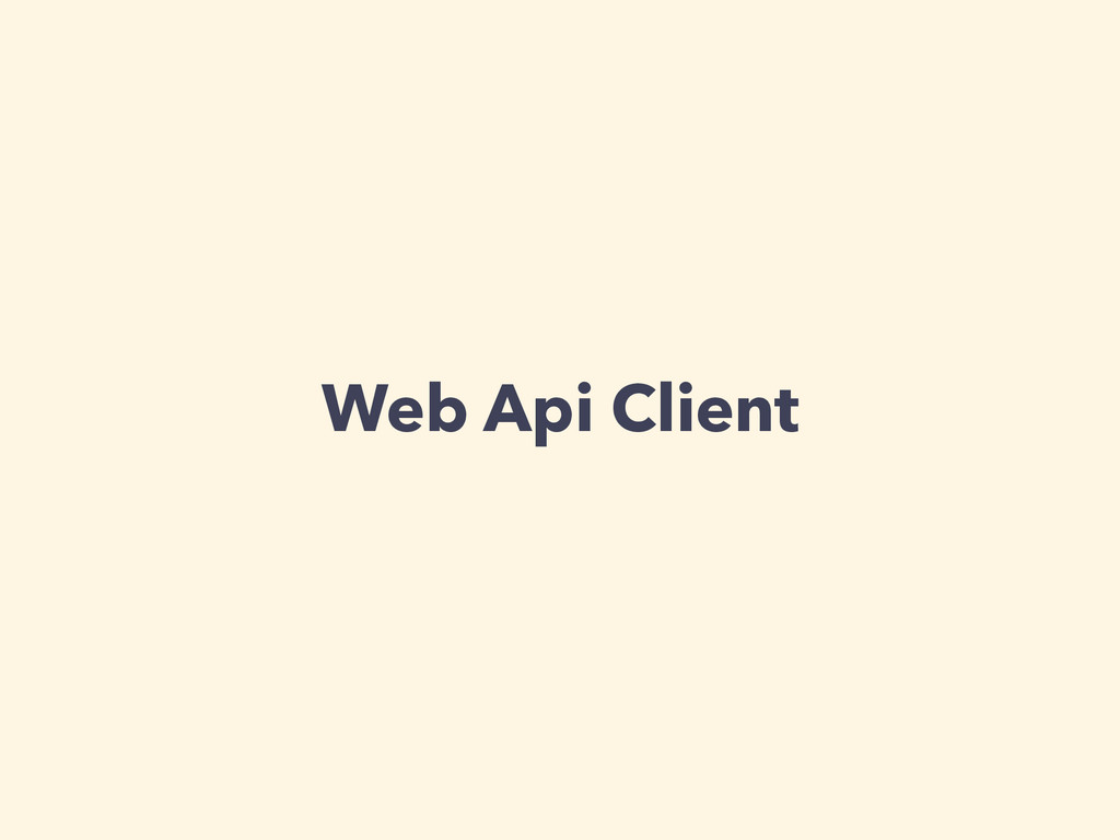 Web Api Client