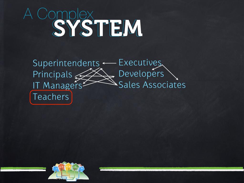 A Complex SYSTEM SYSTEM Superintendents Princip...
