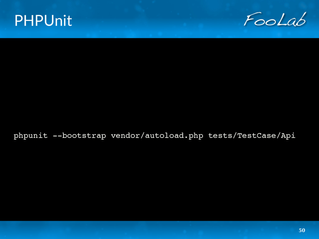PHPUnit phpunit --bootstrap vendor/autoload.php...