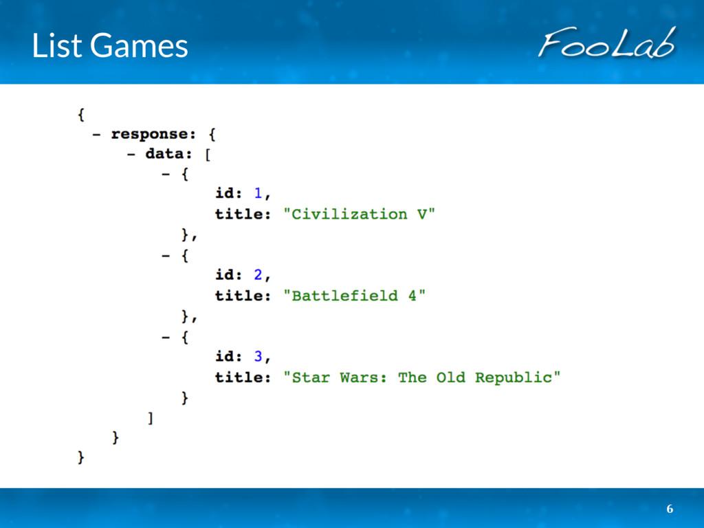 List Games 6