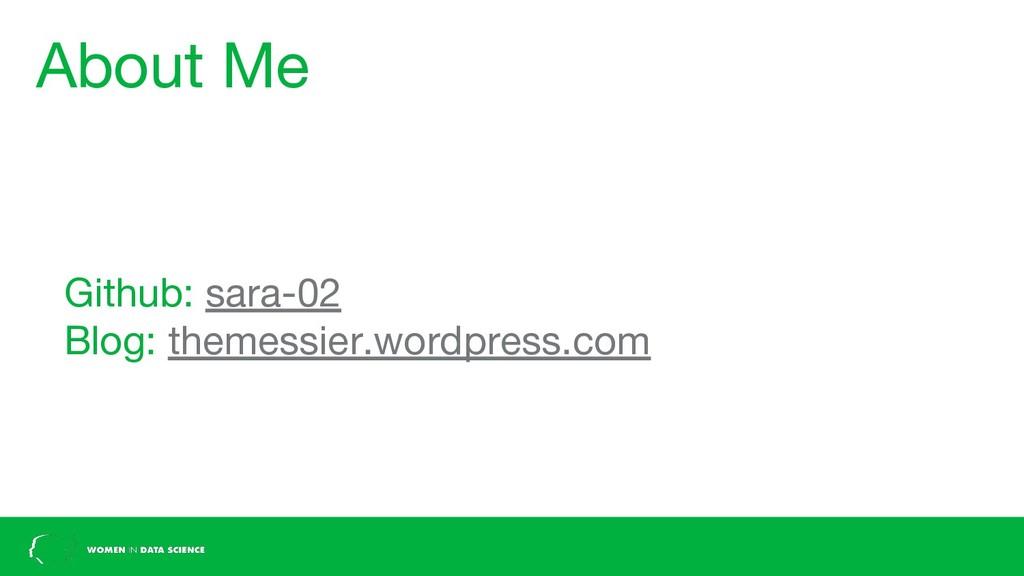 About Me Github: sara-02 Blog: themessier.wordp...
