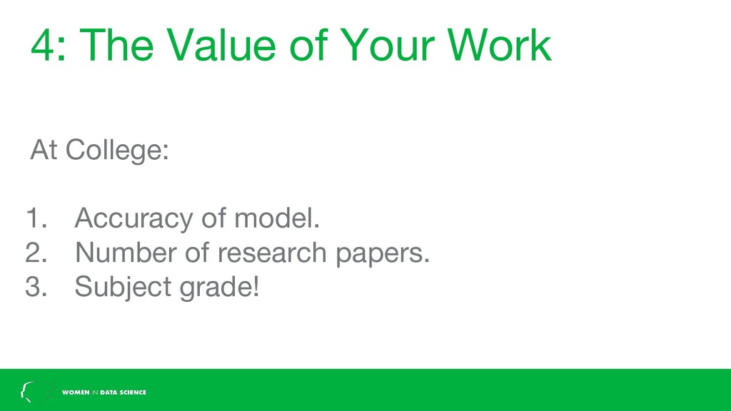 4: The Value of Your Work At College: 1. Accura...