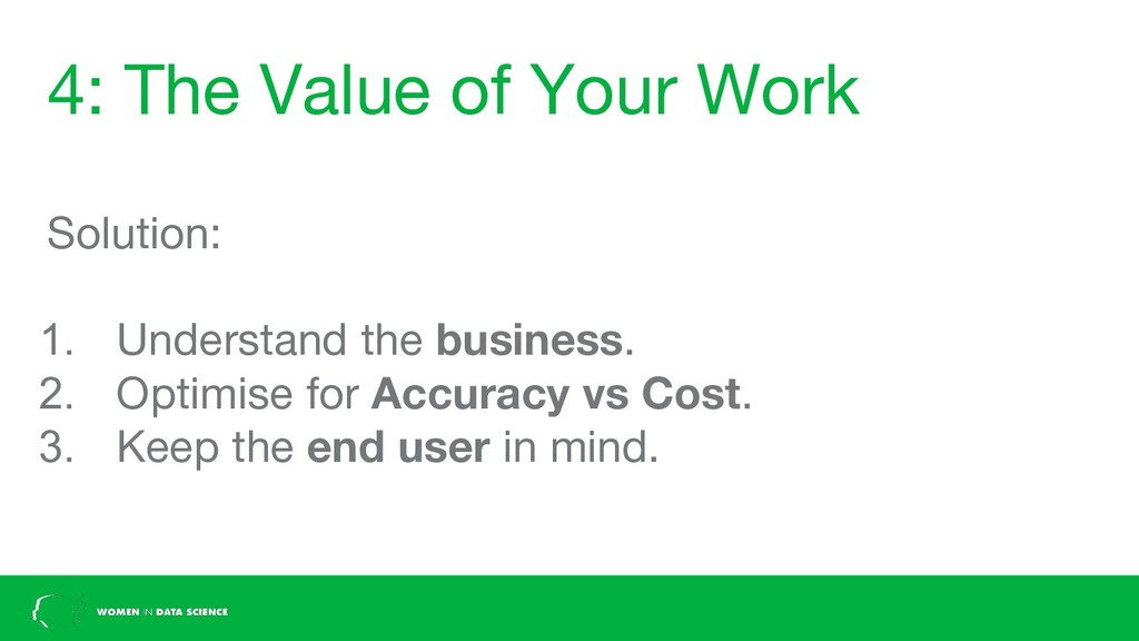 4: The Value of Your Work Solution: 1. Understa...