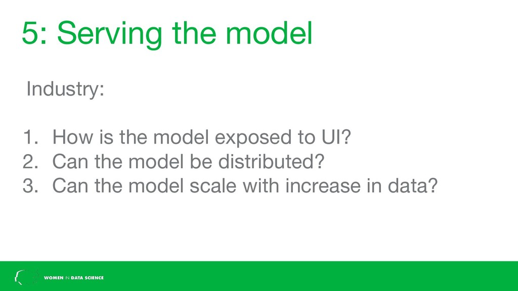 5: Serving the model Industry: 1. How is the mo...