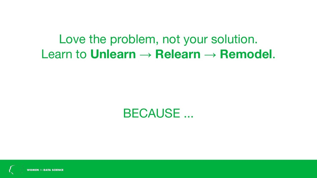 Love the problem, not your solution. Learn to U...