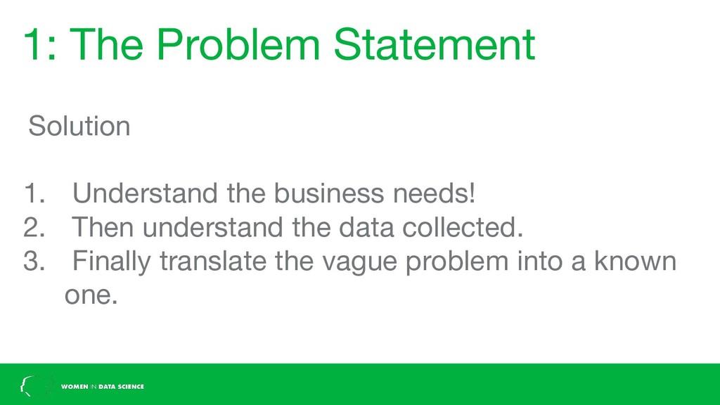 1: The Problem Statement Solution 1. Understand...