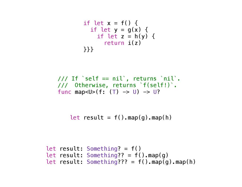 /// If `self == nil`, returns `nil`. /// Otherw...