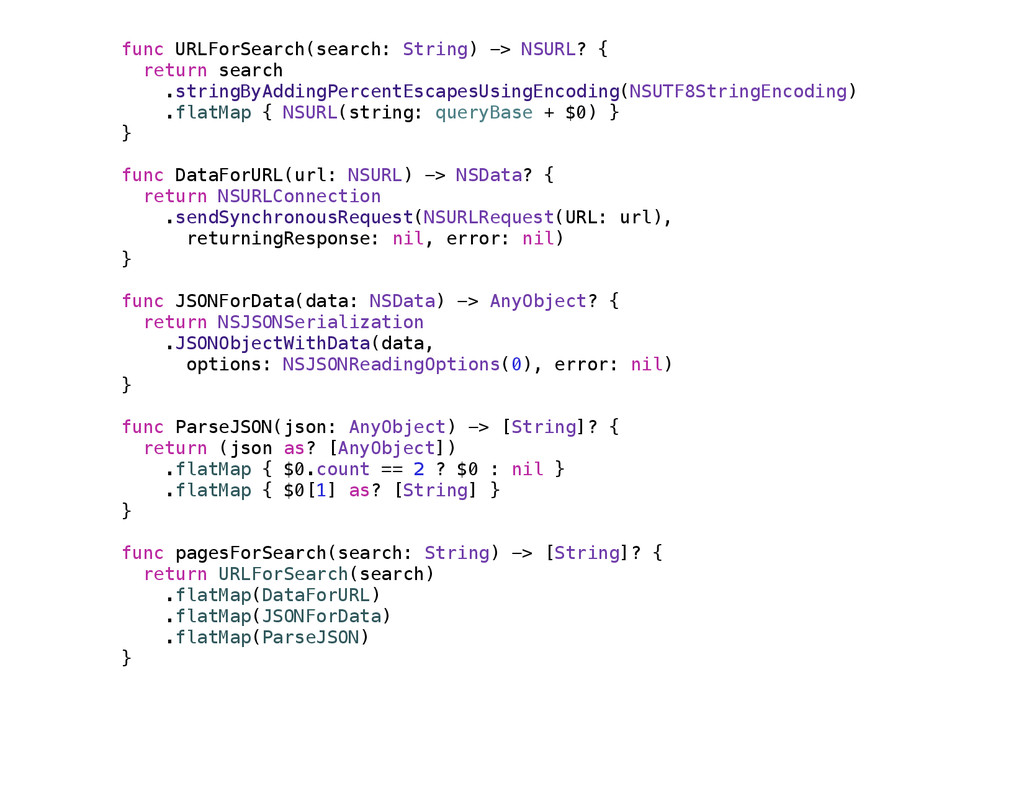 func URLForSearch(search: String) -> NSURL? { r...